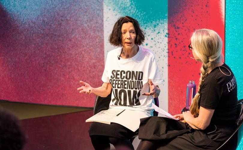 Pure London: Designer Katharine Hamnett blasts ethics of fast-fashion brands and UK government