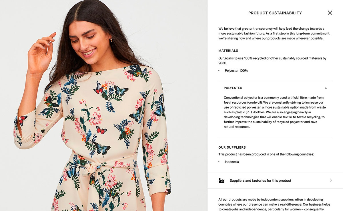 34f95f91 H&M launches product transparency for all garments on its website