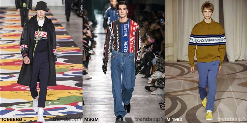 Key Menswear Catwalk Graphics Directions Fall Winter 2019-20