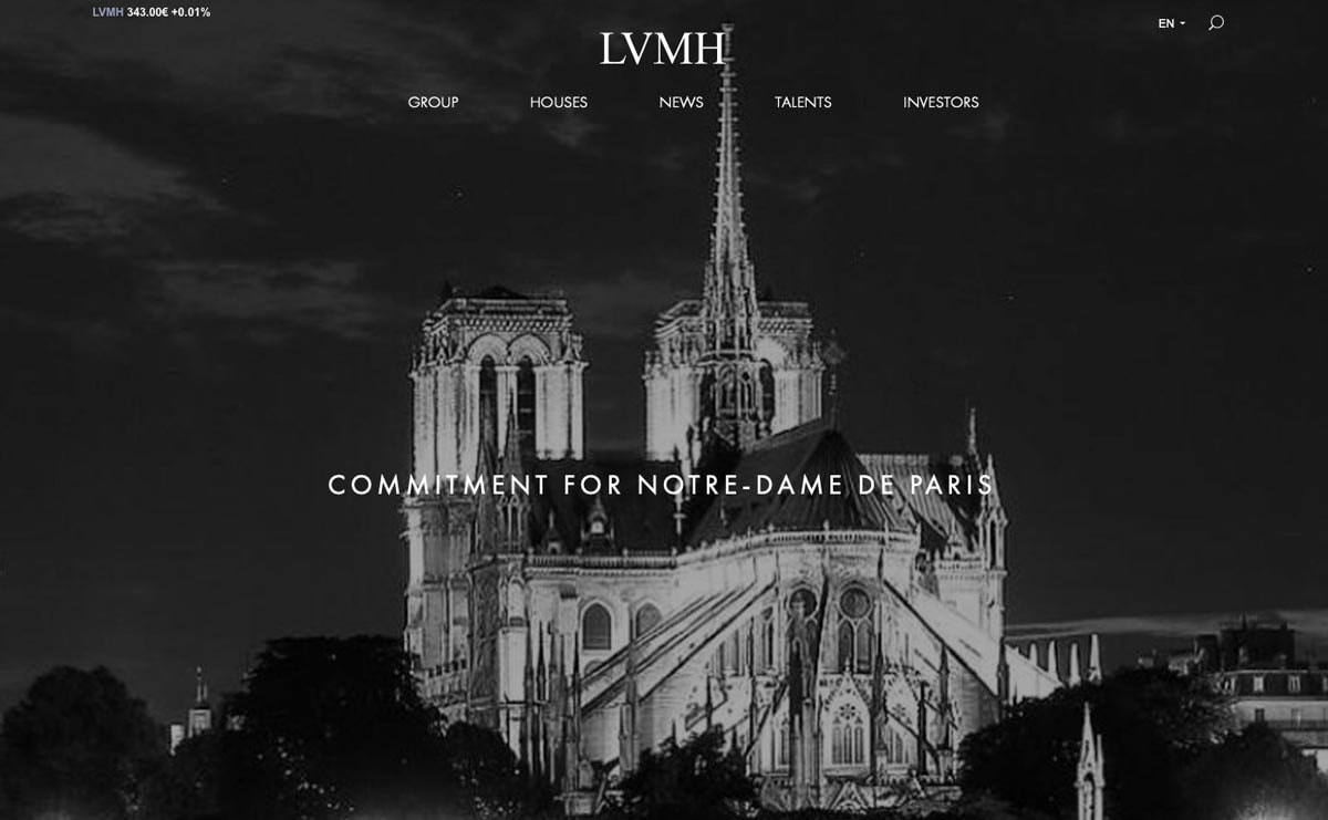 French luxury groups pledge 300 million euros to rebuild Paris Notre Dame