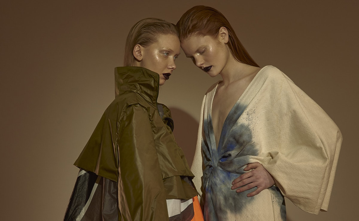 Fashion Design graduate Katharina Rapp presents the AMD Akademie Mode & Design at this year's London Graduate Fashion Week