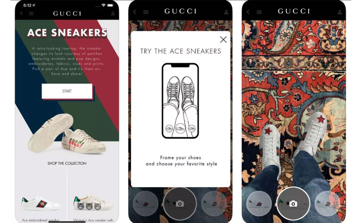 ed00947c3 Gucci introduces AR technology for its Ace sneakers