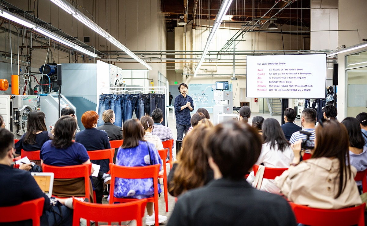 b83a830b Inside Uniqlo's Jeans Innovation Center in Los Angeles