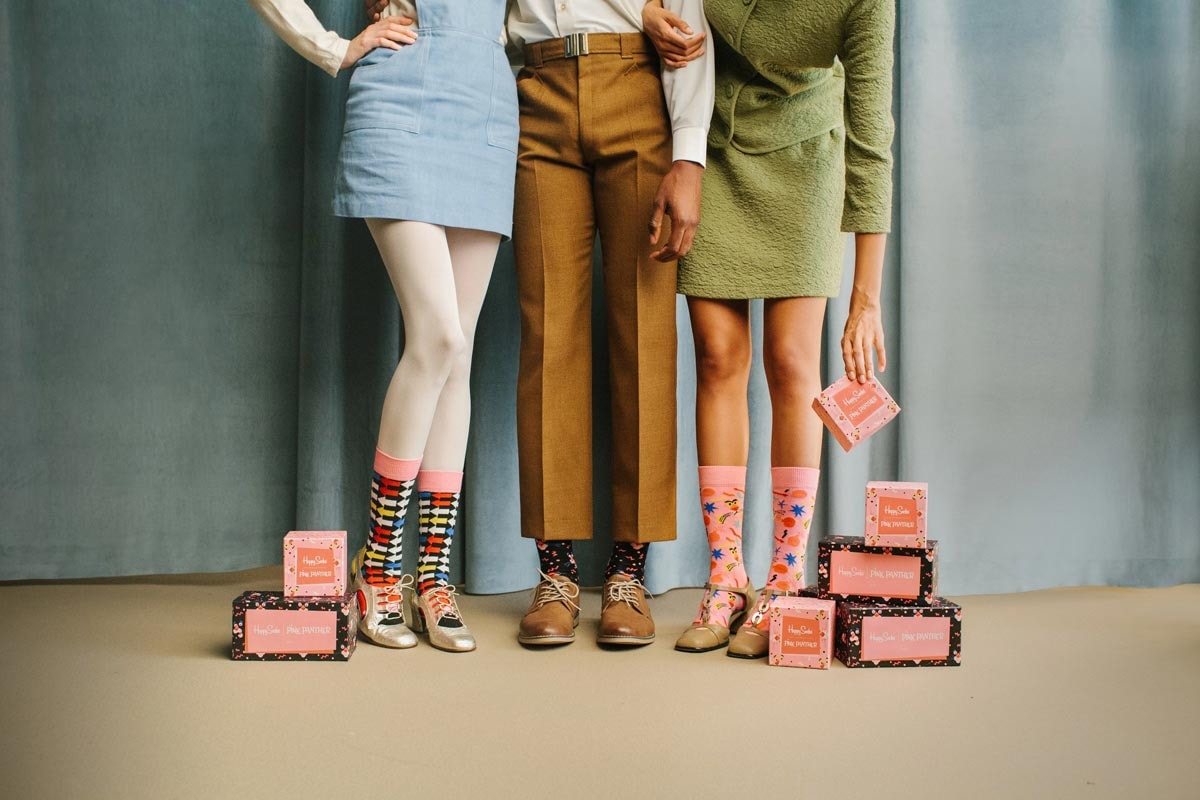 Happy Socks collaborates with Pink Panther