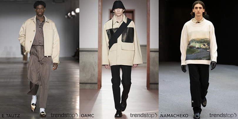 Menswear AW20/21 color trends on the catwalks
