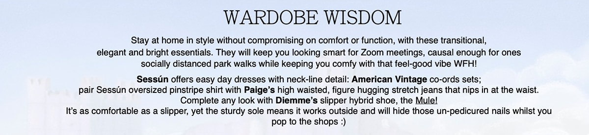Wardrobe Wisdom & Paige's non-surgical facemasks