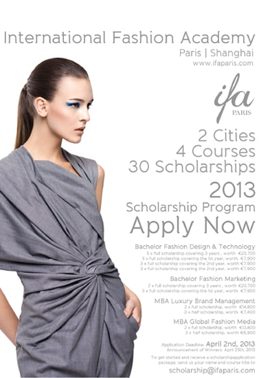 Ifa Paris Announces New Scholarships For 2013