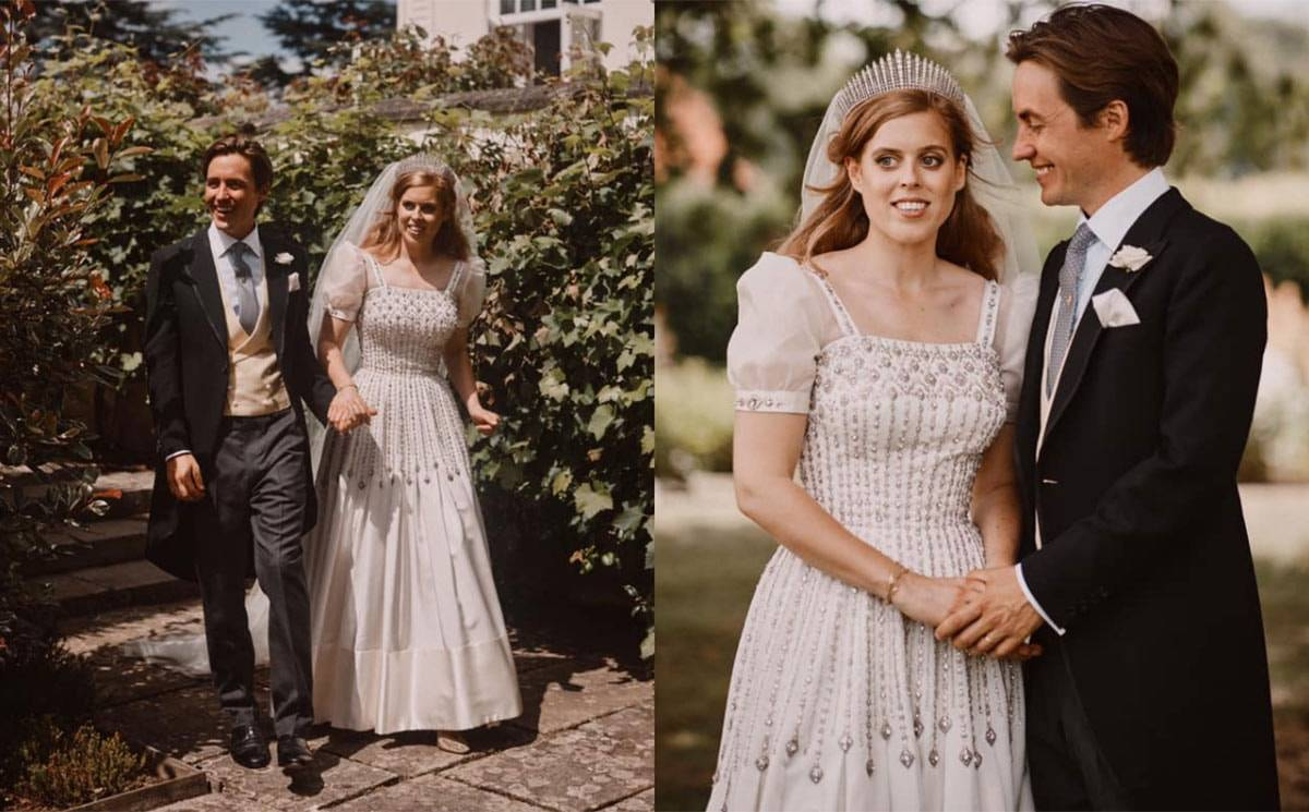 Princess Beatrice wedding dress to go on display in the UK