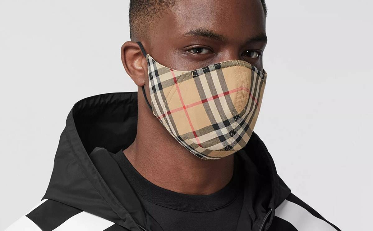 Burberry Launches Designer Face Masks In Signature Check Design