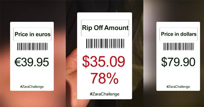 Zara's 'fraudulent' pricing practices caught on film in the #ZaraChallenge
